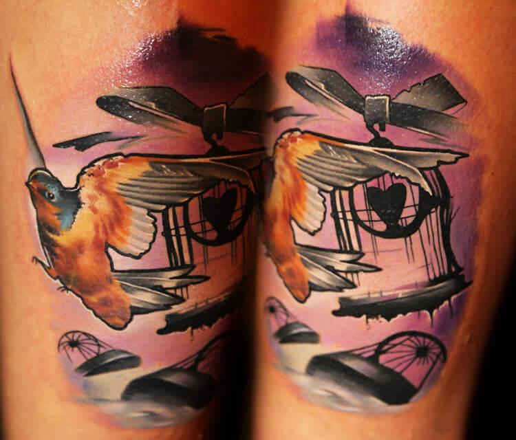 Lovely Cage tattoo by Lehel Nyeste