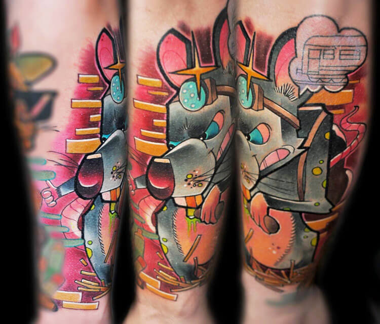 Mr. Nightwriter tattoo by Lehel Nyeste