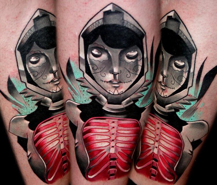 Muerte tattoo by Lehel Nyeste