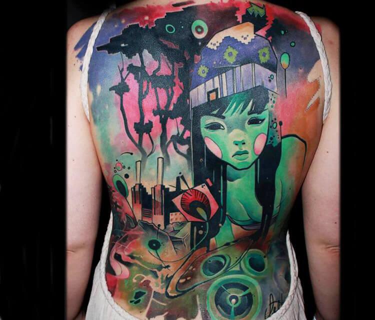 Nature girl tattoo by Lehel Nyeste