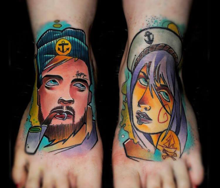Nautical tattoo tattoo by Lehel Nyeste