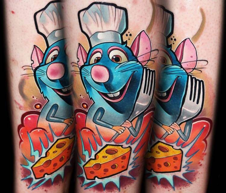 Ratatouille tattoo by Lehel Nyeste