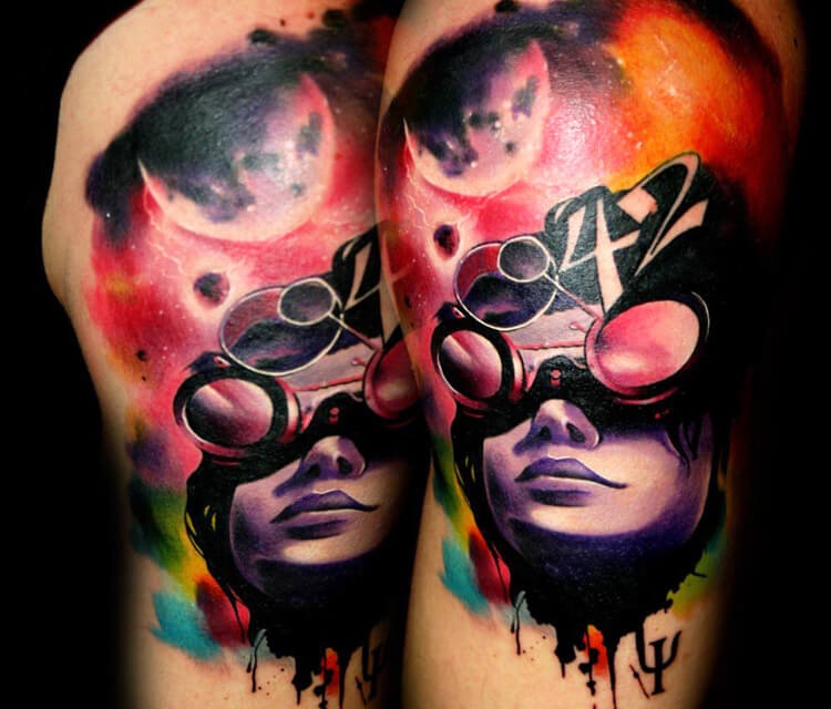 Space Girl tattoo by Lehel Nyeste