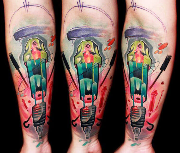 Spark Plugs tattoo by Lehel Nyeste