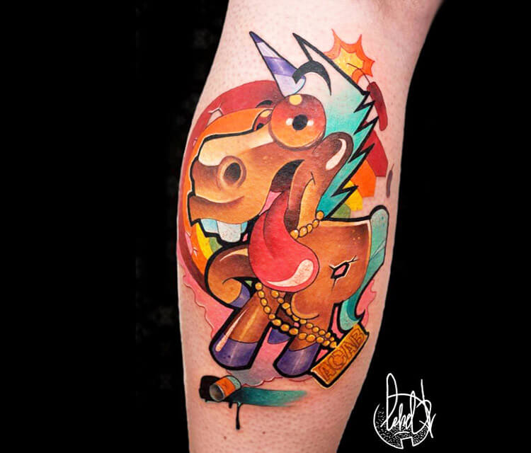 Unicorn tattoo by Lehel Nyeste