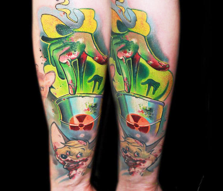 Zombie stuff tattoo by Lehel Nyeste