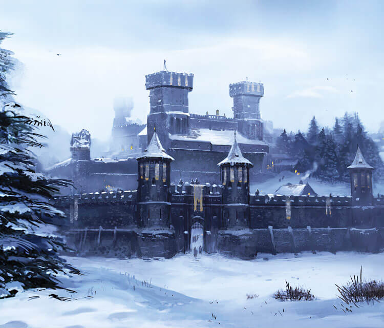 Winterfell digitalart by Lino Drieghe