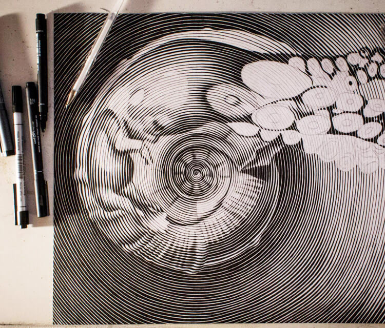 Teardrop sketch drawing by Lonac Art