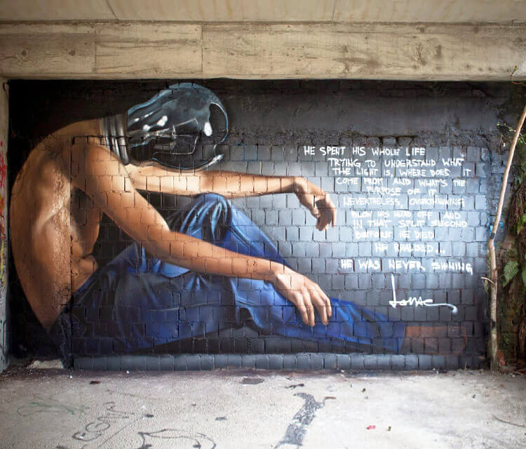 Lux man streetart by Lonac Art