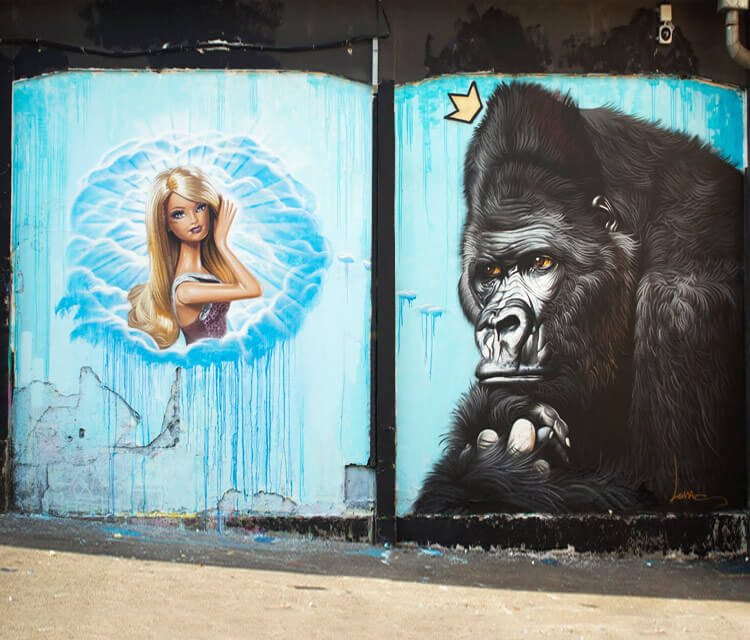 Oh barbie streetart by Lonac Art