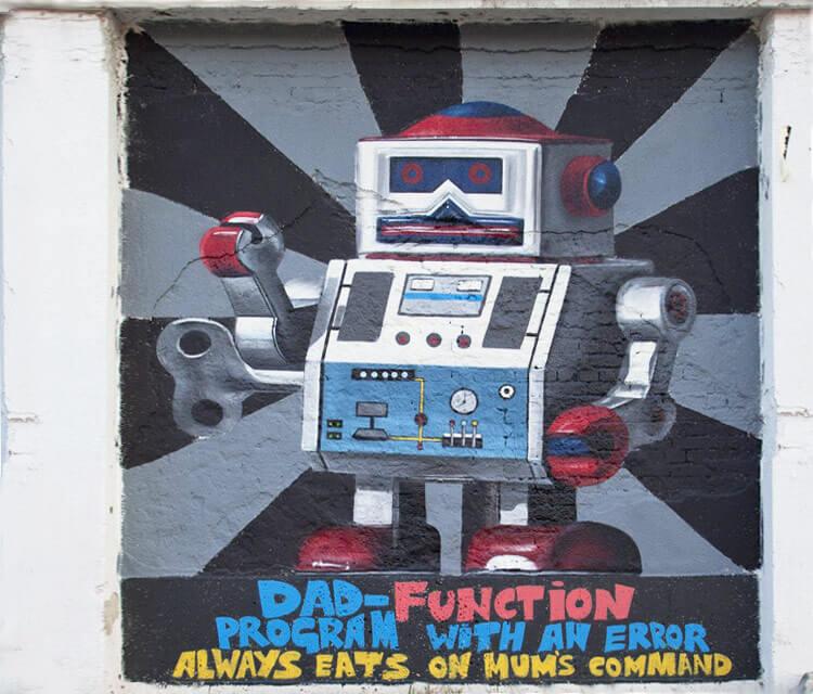 Dad-Function streetart by Lonac Art