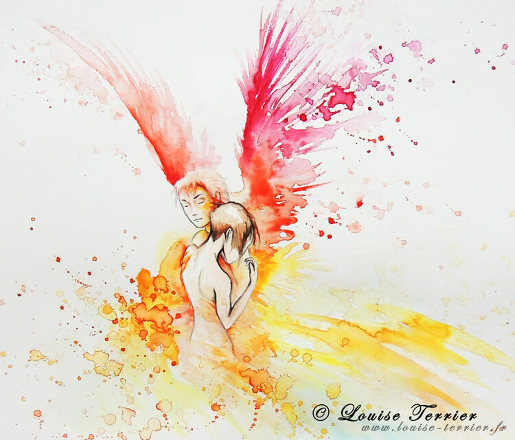 Angel Love painting by Louise Terrier