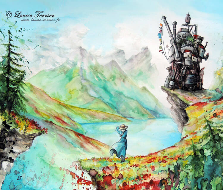 Howls moving castle by Louise Terrier