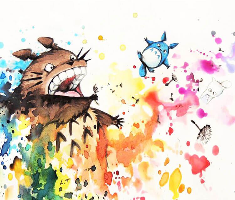 My neighbor Totoro by Louise Terrier
