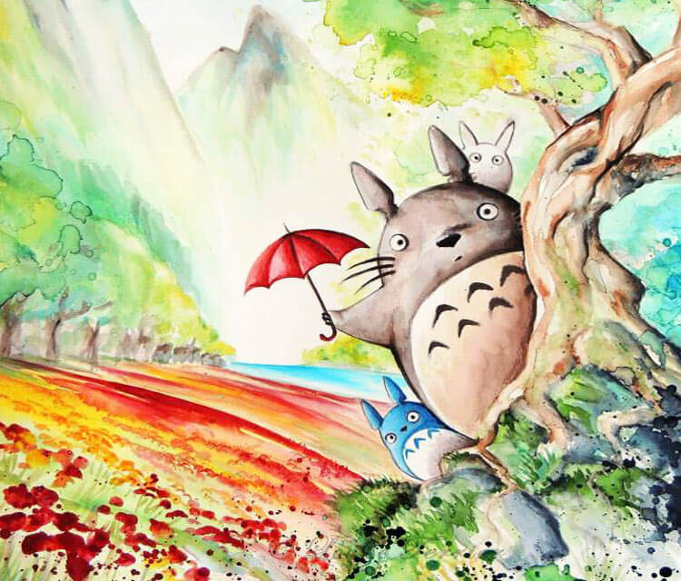 My neighbor Totoro 2 by Louise Terrier