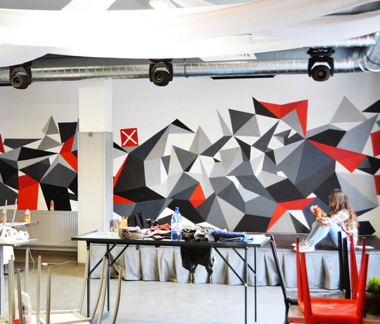 Interior design streetart by Lukas Lukero Art