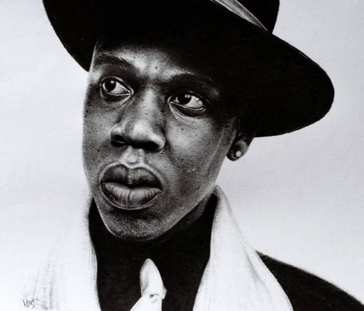 Jay Z portrait drawing by Lukas Lukero Art