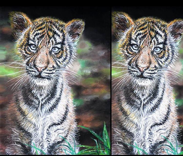 Little tiger painting by Lukas Lukero Art