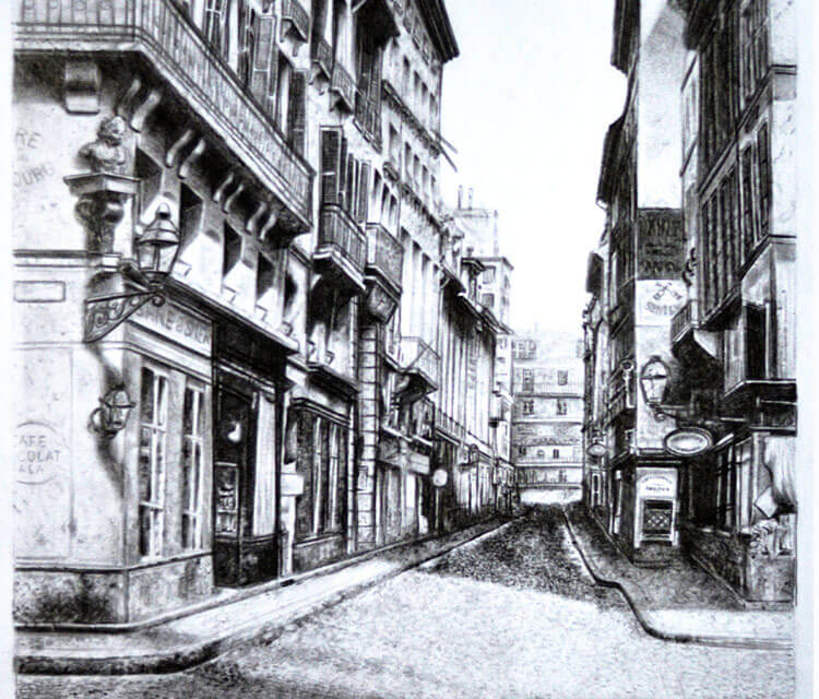 Old city drawing by Lukas Lukero Art