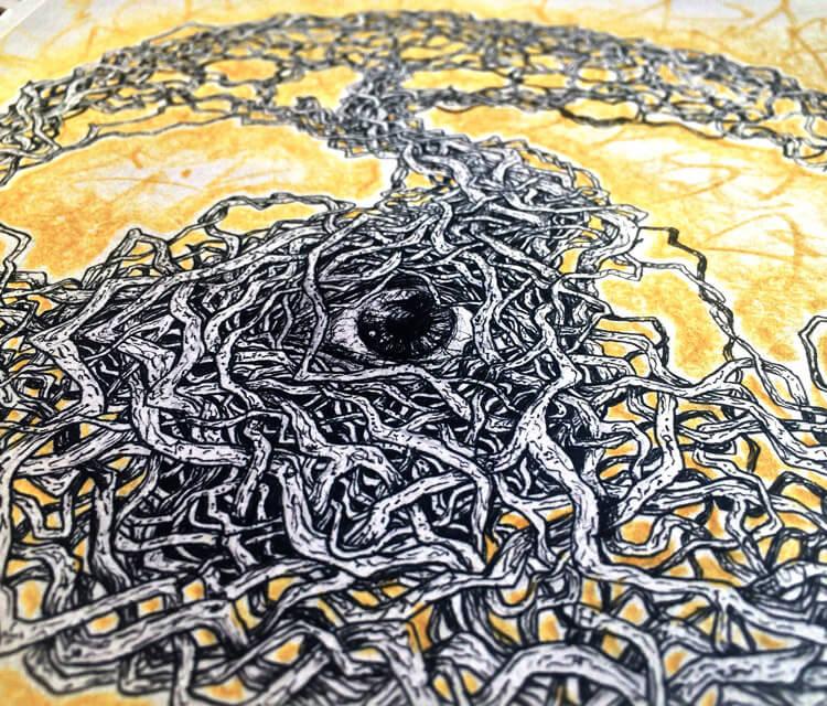 Sketchbook eye sketch drawing by Lukas Lukero Art