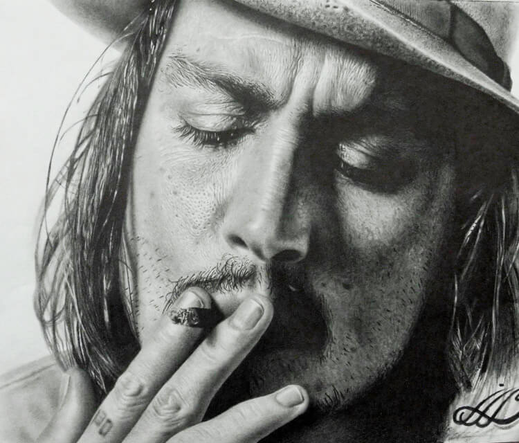 Johnyy Depp drawing by Mahmoud Madane