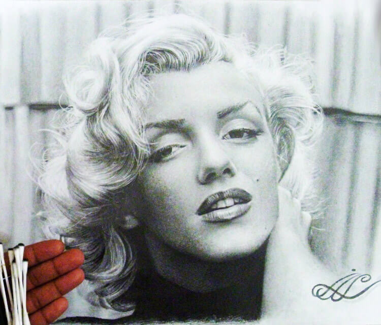 Marilyn Monroe drawing by Mahmoud Madane