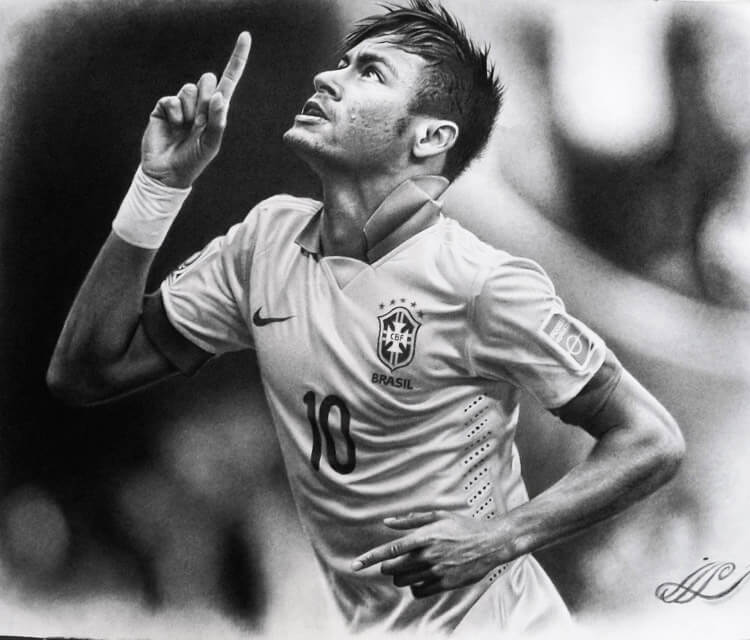 Neymar jr drawing by Mahmoud Madane