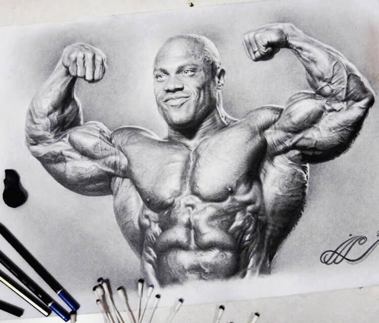 Phil Heath drawing by Mahmoud Madane