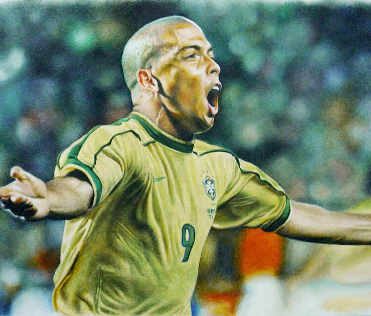 Ronaldo Luis color drawing by Mahmoud Madane