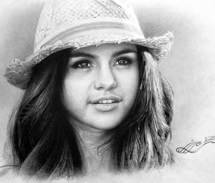 Selena Gomez drawing by Mahmoud Madane