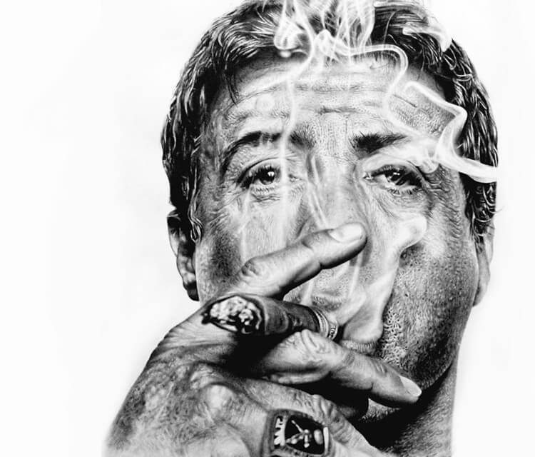 Sylvester Stallone drawing by Mahmoud Madane