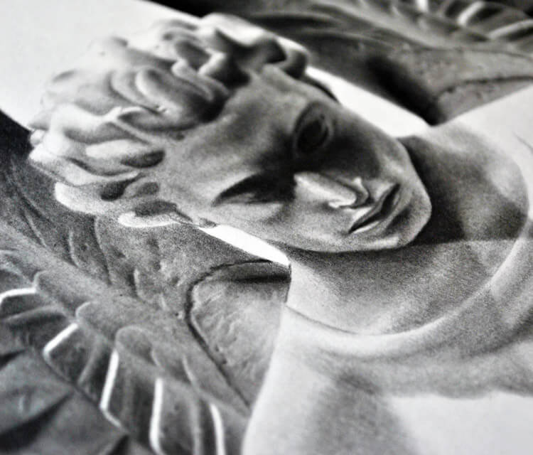 Angel detail drawing by Maira Poli