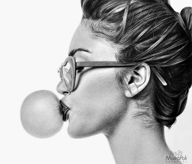 Bubblegum drawing by Maira Poli