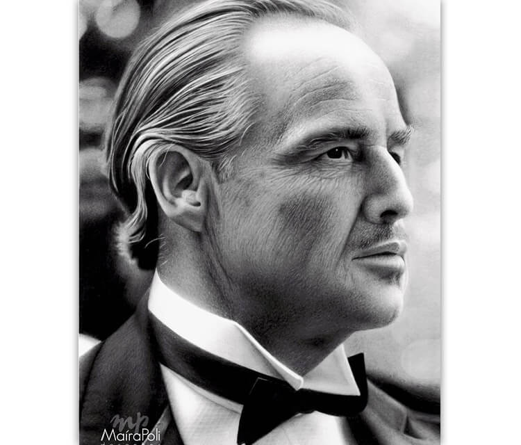 Don Corleone (The Godfather) drawing by Maira Poli