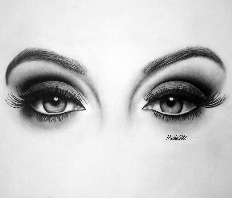 Eyes of Adele drawing by Maira Poli