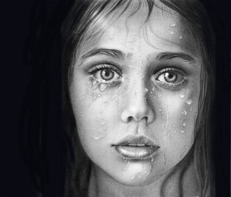 Girl Water face drawing by Maira Poli