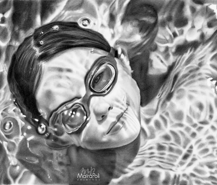 In the water drawing by Maira Poli