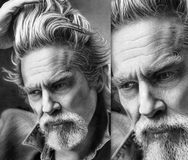 Jeff Bridges drawing by Maira Poli