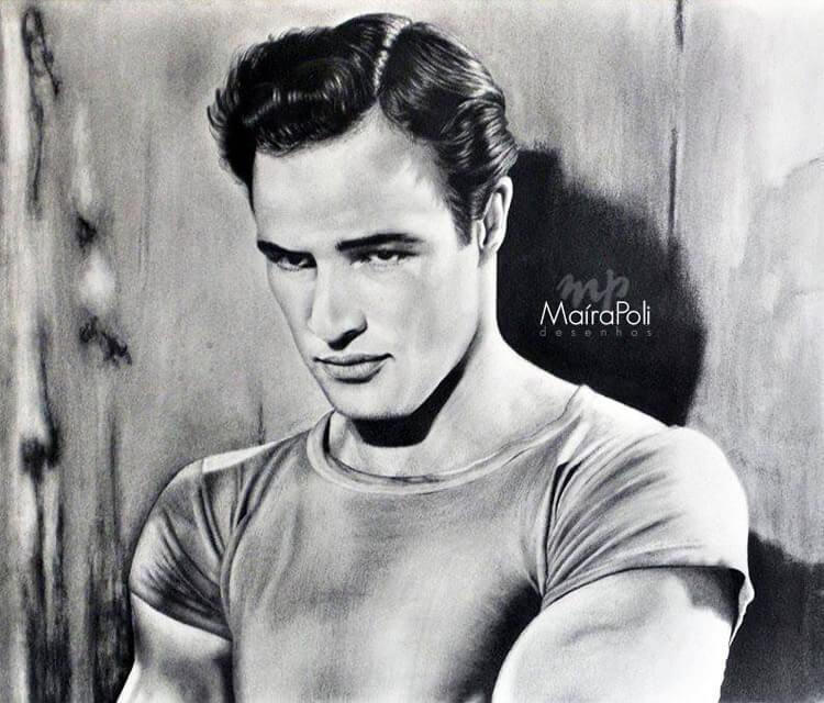 Marlon Brando by Maira Poli