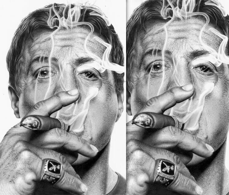 Sylvester Stallone drawing by Maira Poli