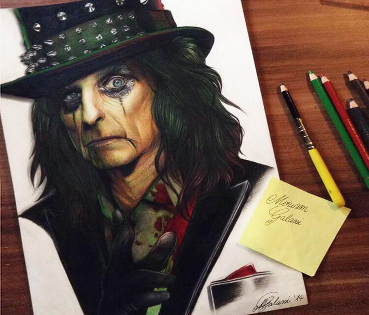 Alice Cooper portrait by Miriam Galassi