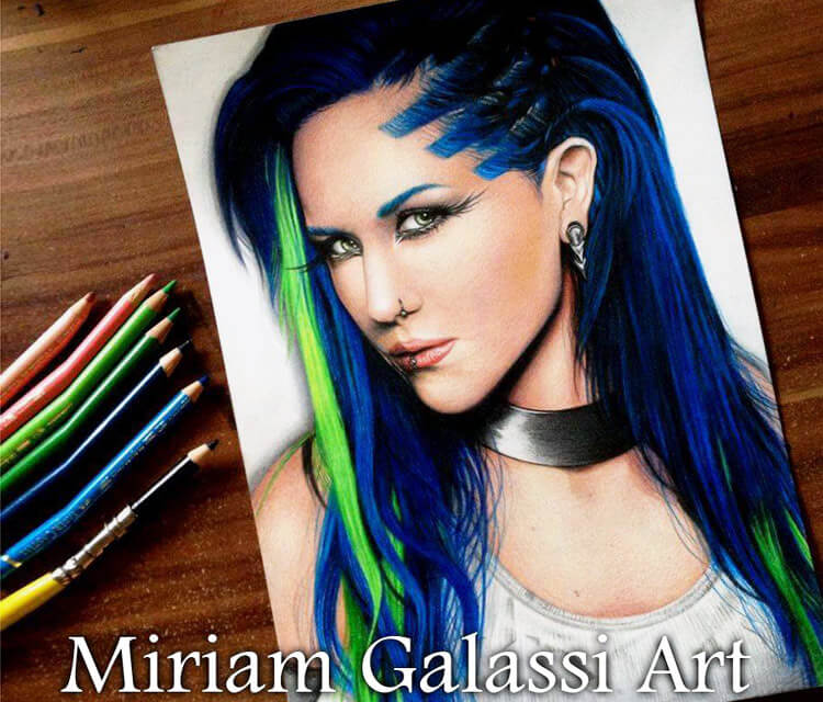 Alissa White Gluz portrait by Miriam Galassi