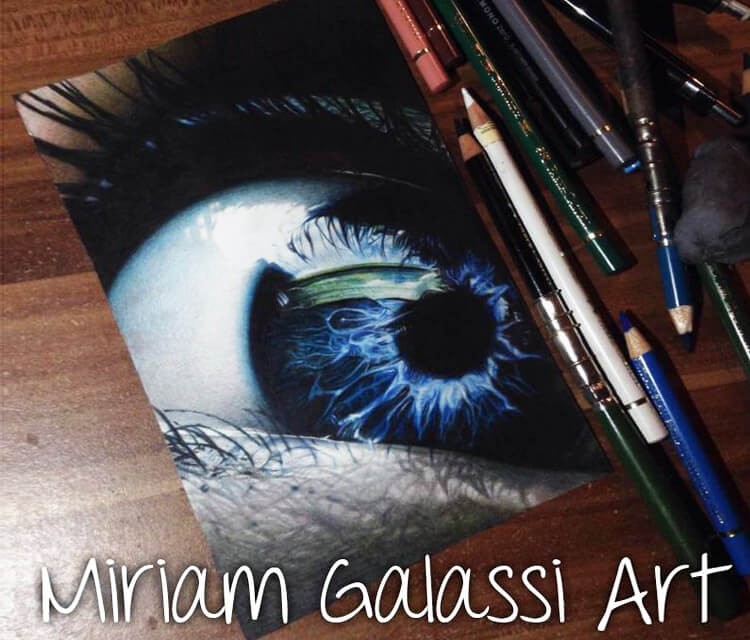 Eye drawing by Miriam Galassi