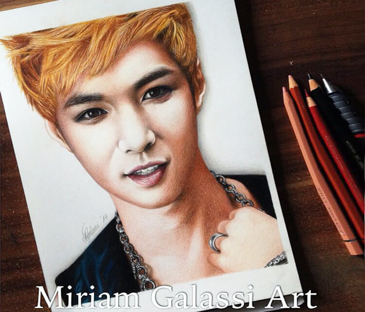 Lay of the Kpop drawing by Miriam Galassi