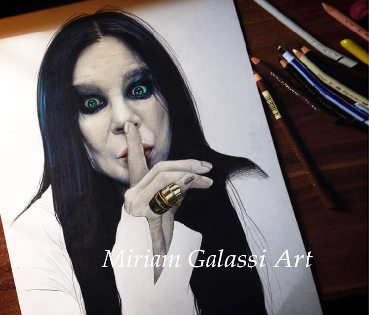 Ozzy Osbourne drawing by Miriam Galassi