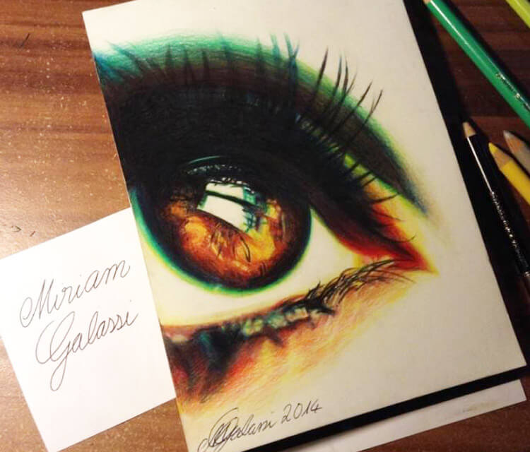 Radioactive eye drawing by Miriam Galassi