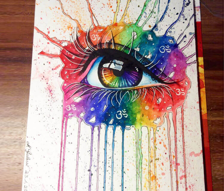 Watercolor eye by Mmiriam Galassi