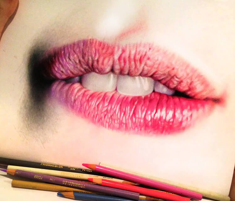 Lips drawing by Morgan Davidson
