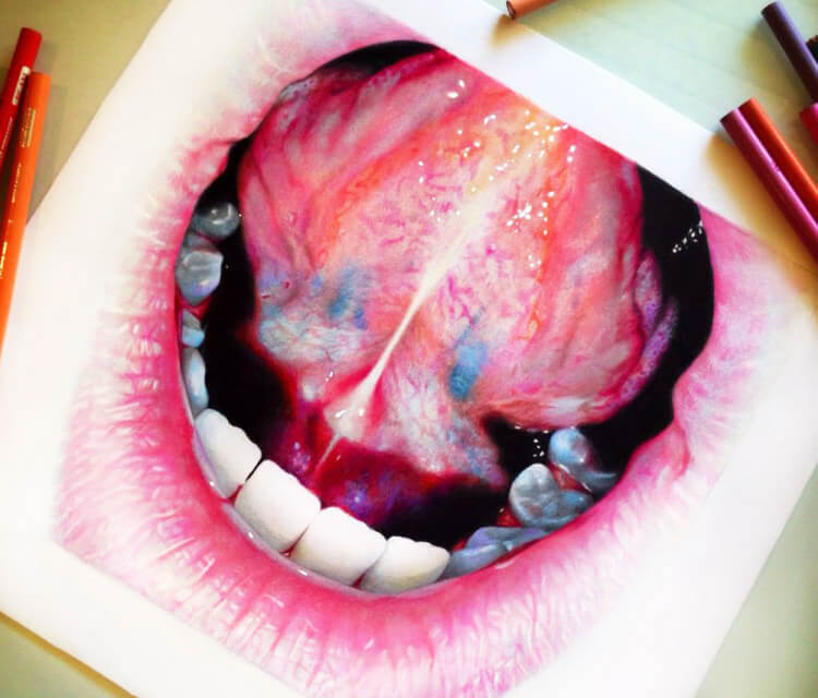 Color Teeth drawing by Morgan Davidson
