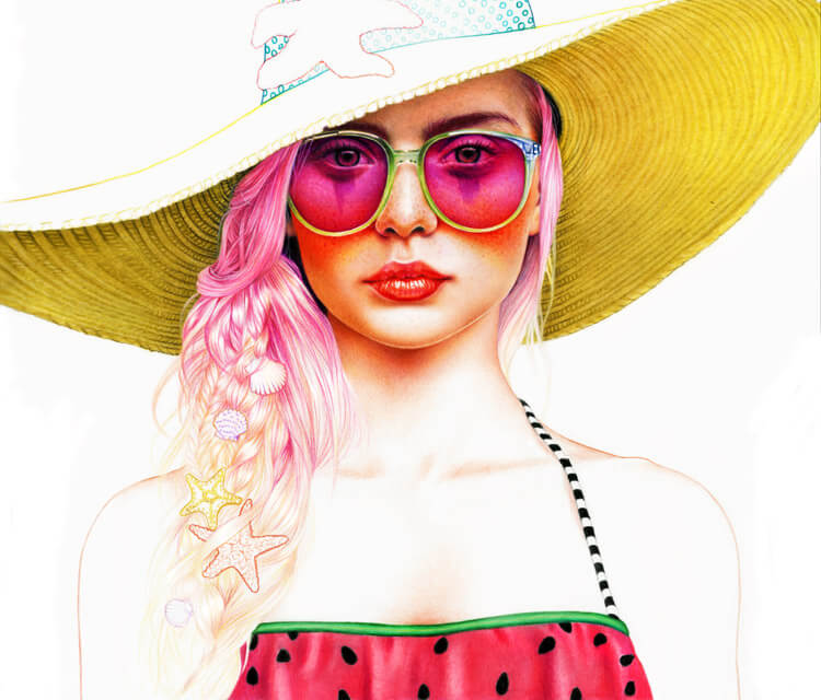 Summer girl drawing by Morgan Davidson